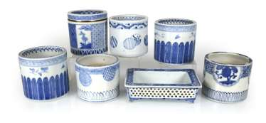 Six-Hai-ire and a Jardiniere with breakthrough work in porcelain
