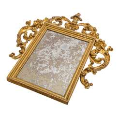MIRROR IN BAROQUE STYLE, Italy, 19th century. Century,