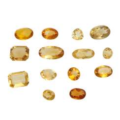 Mixed lot of gemstones: Citrine, 91,6 ct,