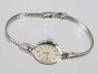 Gold Ladies Wrist Watch White