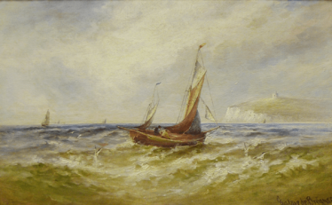 View of the English channel 1878