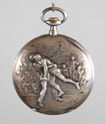 Pocket watch with a sports motif