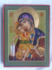 The Icon Of The Mother Of God The Merciful Mother Of God Of Kykkos.