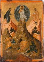 VERY FINE, LARGE-FORMAT ICON WITH THE TRANSFIGURATION OF CHRIST