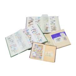 Austria – 2 small and 2 large plug-in books with post-fresh and stamped marks,