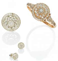 Diamond Set: Bracelet, Brooch, Earrings