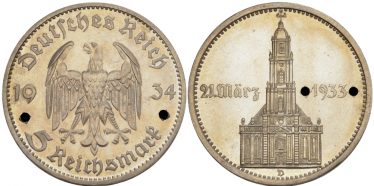 GERMANY 5 REICHSMARK 1934 D