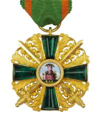 Baden: Grand of the order of the Zähringer lion, knights cross 1 Duke. Class with swords.