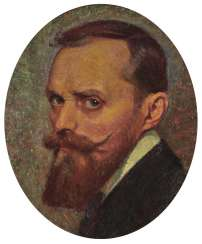 Italy (?) Around 1910, self-portrait by an artist