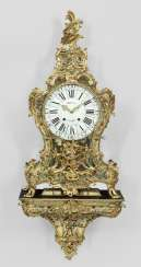 Court of Louis XV Boulle Pendule with console