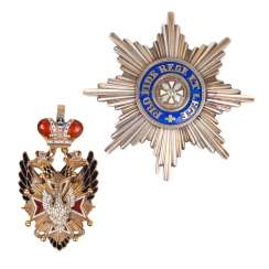Reduced star and badge of the order of the White eagle