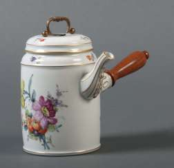 Cocoa jug style flower painting Ludwigsburg