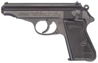 Walther PP ZM, caliber 9 mm, with bag