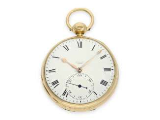 Pocket watch: heavy English Pocket chronometer with spring detent escapement according to Thomas Earnshaw, William Gravell, London Hallmark 1821