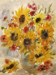 Bouquet, sunflowers, poppies / Bouquet of sunflowers