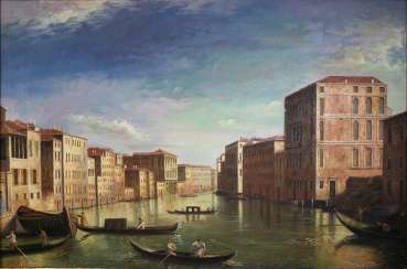 View of a Venetian canal, 2. Half Of The 20th Century