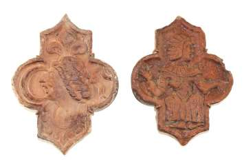 France 12. Year hundertt. Relief tiles