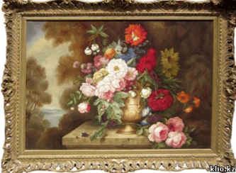 Still life with flowers 19th century,