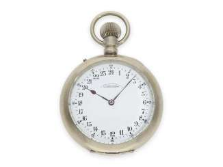Pocket watch: glashütte rarity, A. Lange & Söhne pocket watch with 24 hour dial, 1 of only 10 watches produced, CA. 1905