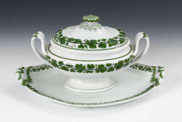Tureen with under tray/plate, MEISSEN