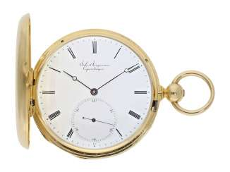 Pocket watch: early Jules Jürgensen Copenhagen Anchor chronometer No. 6210, CA. 1849