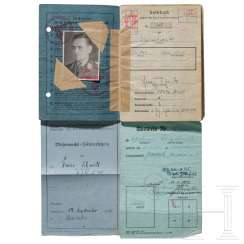 Captain Franz Schmidt - pay book and driver's license