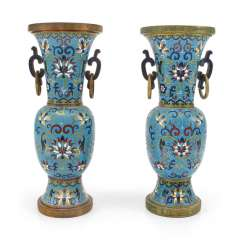 PAIR OF VASES, CLOISONNE, CHINA