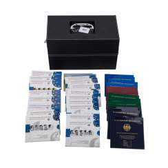 BRD - Jewelry leather box with 14 silver-collector coins, sets