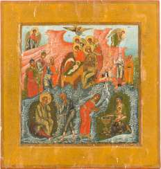 LARGE-FORMAT ICON WITH THE BIRTH OF CHRIST