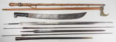 Edged weapons: Lot of Blades and Sheaths.