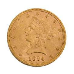 USA/GOLD - 10 Dollar 1894, Liberty Head, ss., Kratzer,