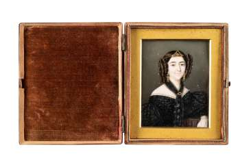 BIEDERMEIER PORTRAIT MINIATURE