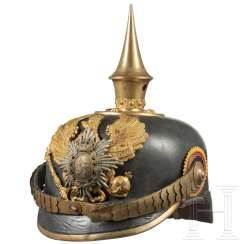 Helmet for an officer in the 7th Thuringian Infantry Regiment No. 96, 2nd Battalion (Principality of Reuss), around 1910