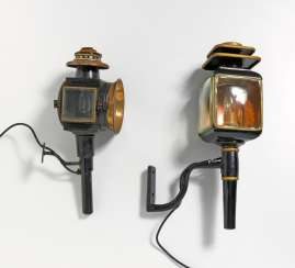 Two carriage lanterns