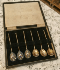A set of spoons. Silver 84