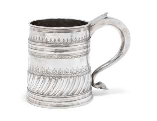 A WILLIAM AND MARY SILVER MUG