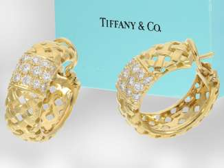 Earrings: extremely high quality and unusual Designer-brilliant earrings from the house of Tiffany & co., Collection