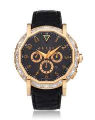 GRAFF, CHRONOGRAFF, 18K PINK GOLD & DIAMONDS, REF. CG42PD