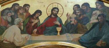 The last supper, Icon Look down on humility, Michael the Archangel and Saint Barbara, the Iveron icon of the Mother of God