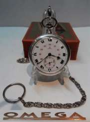 Vintage Omega silver pocket watch