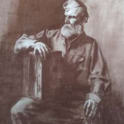 Portrait of an old soldier