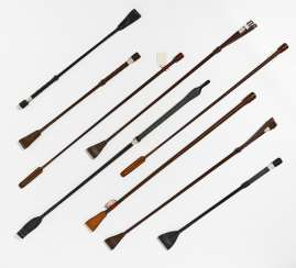 Lot of 9 different riding crops