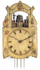 Black forest automaton clock with Jacquemart