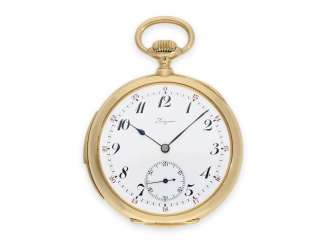 Pocket watch: extra-large Longines men's watch with minute repeater and a rare 24-hour dial, approx 1917