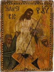 A SMALL ICON WITH THE DESCENT INTO HELL AND THE LIBERATION OF THE FOREFATHERS FROM HADES Probably Greece