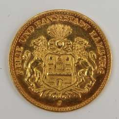 Hamburg: 5 Mark 1877.
