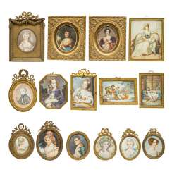 MIXED LOT OF MINIATURES, 19TH CENTURY./20. Century,