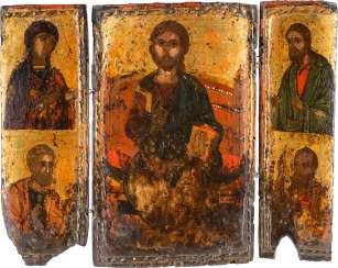 TRIPTYCH WITH THE DEESIS AND THE APOSTLES PETER AND PAUL