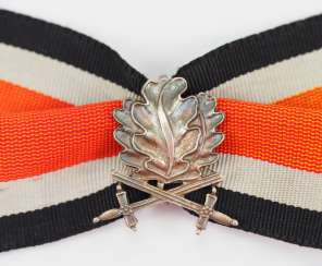 In 1957 oak leaves and swords to the knight's cross of the Iron cross.