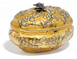 Sugar bowl with flowering branches